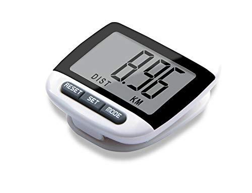 Digitaler Schrittzähler mit LCD-Display, Kalorienzähler, Distanz, Fitness