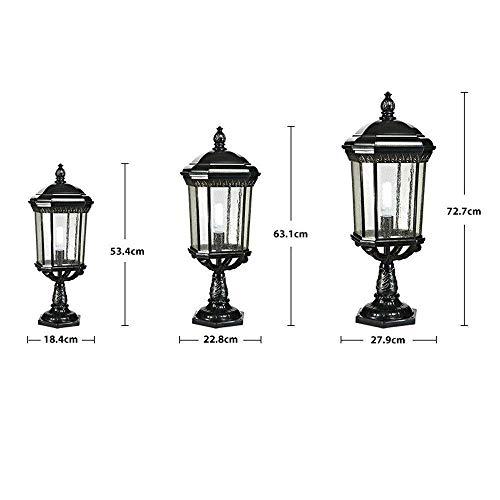 Wandlantaarn wandlamp van kristalglas, wandlamp spiegel hoofdlamp klassieke veranda staande lamp van glas buitenverlichting 22.8x63.1CM