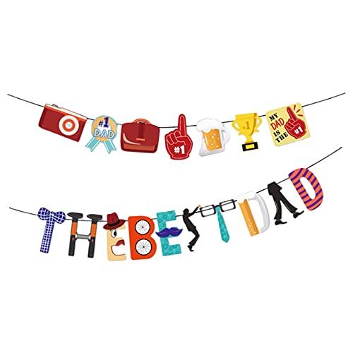Colcolo 2021 Bandera del Día de los Padres Felices Guirnalda del empavesado decoración Fiestas Festivas Eventos de retiro celebración Foto decoración de
