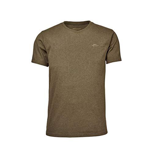Blaser T-Shirt V-Ausschnitt Herren in 2 versch. Farben (M, Schilf Melange)