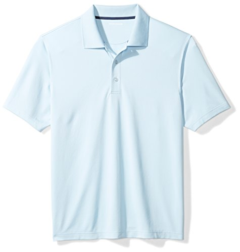 Amazon Essentials Quick-Dry Golf Polo Shirt, Azul (Light Blue), Large