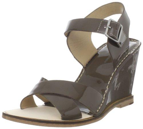 Diane von Furstenberg Women's Dagga Sandal,Khaki Patent,7.5 M US
