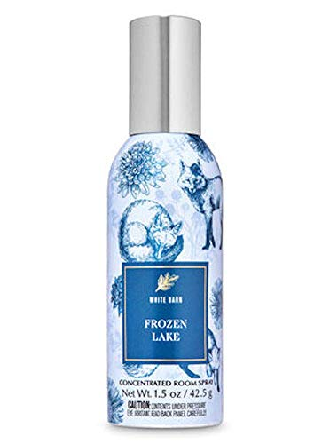 White Barn Candle Company Bath and Body Works 1.5 oz Concentrated Room Spray - Fall 2020 - Frozen Lake (Lavender Leaves, Cool Eucalyptus, Juniper Berries)