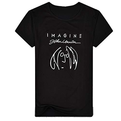 waotier Camiseta De Manga Corta De Hombre Top De Manga Corta con Estampado De Hombre con Texto Imagine De Primavera Y Verano