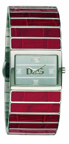Dolce & Gabbana De Ibiza DW0081 - Reloj de Mujer de Cuarzo, Correa de Piel Color Rojo