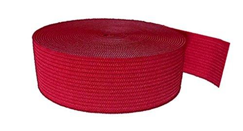 Ninepeak Braided Elastic, Red, 5-Yard (1/2-Inch)