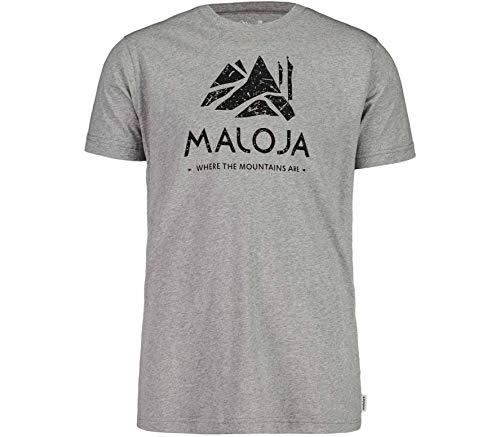 Maloja GrassitschM. T-Shirt Herren Grey Melange Größe L 2020 Kurzarmshirt