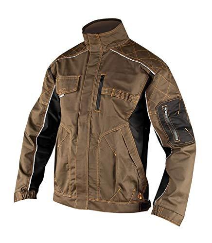 Vision ARDON Professionelle Arbeitsjacke Herren Mantel für den Installateur, Belüftung mit Reißverschlusstaschen leichte Jacke Schutzkleidung; Olive Farbe; (50)