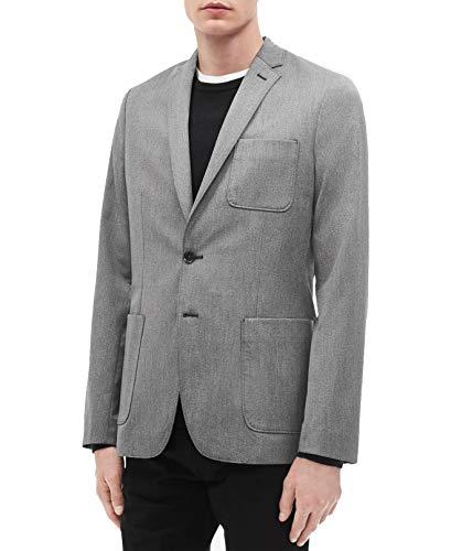 Calvin Klein Mens Patch Pocket Blazer Jacket, Grey, Medium