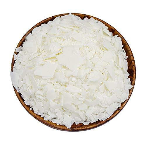CoolCrafts Cera di Soia Bianca Naturale Cera di Soia Fiocchi per Candele - 1lb (450g)
