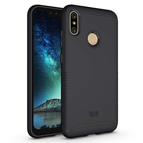 TUDIA Merge Designed for BLU Vivo XI+ Case, Slim Dual Layer Shockproof Phone Case Cover for BLU Vivo XI+ (Matte Black)