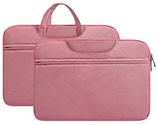 14-15 inch Laptop Briefcase Water-Resistant Computer Case Portable Carrying Bag for HP Pavilion x360 14/HP Stream 14,Lenovo Flex 5/Lenovo Chromebook S330 14',LG Gram14,Acer Dell HP Chromebook 14 Case