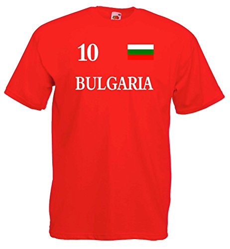 World of Shirt Herren T-Shirt Bulgarien im Trikot Look