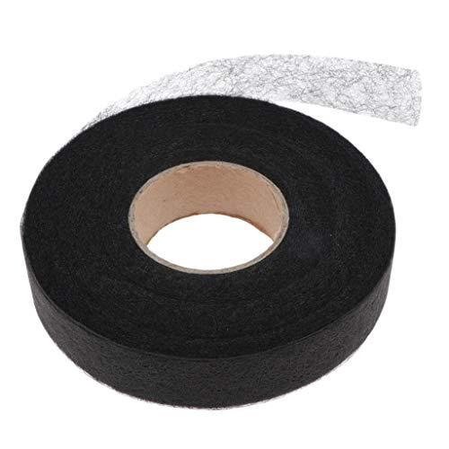 kowaku 1 Rollo de Cinta de Fusión de Tela Cinta Adhesiva para Dobladillo para Ventana Camisa de Ropa Curtian - Negro, 2cm
