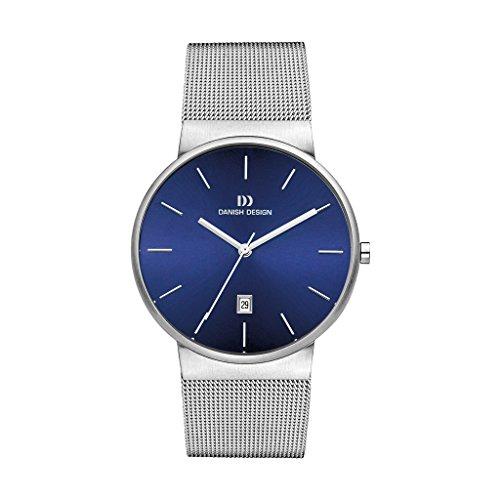Danish Design Herren Analog Quarz Uhr mit Edelstahl Armband 3314517