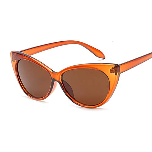 YWSZY Gafas de Sol, Lentes Gafas De Sol Mujeres Marco De Plástico Gafas De Sol Gafas De Sol Gafas De Sol UV400 Moda (Lenses Color : Brown)