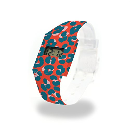 Leopard Rouge cartón Watch/Paper Watch/Reloj de Pulsera Digital de Tyvek®, Absolutamente Resistente y Agua
