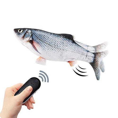 10'Pesce Giocattolo Gioco per Gatto,Giocattolo pesce gatto controllo wireless,batteria...