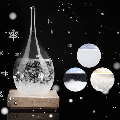 Tempesta di vetro, MAGT Tempesta Vetro Creativo Drop-forma di bottiglia di vetro Tempesta Desktop Weather Stazione Meteo Predictor come il dono for il matrimonio o compleanni
