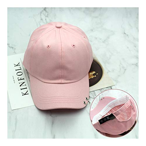 QZXQW Unisex Baseball Cap Asjustable Snapback Sport Hip Hop Sun Hats Hoop Ring Baseball Cap Men and Women Sunshade Cap Tide Sun Hats Casual Hat 4 Seasons (Color : Pink)