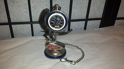 FRANKLIN MINT Pocket Watch Harley Davidson Springer with Eagle Stand