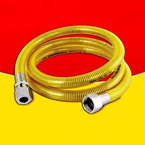 CHUTD Manguera 304 Tubo de Gas de Acero Inoxidable Tubo de Gas Natural Estufa de Gas Calentador de Agua Metal Corrugado 5m (Color: Boca de Tornillo + Gato)