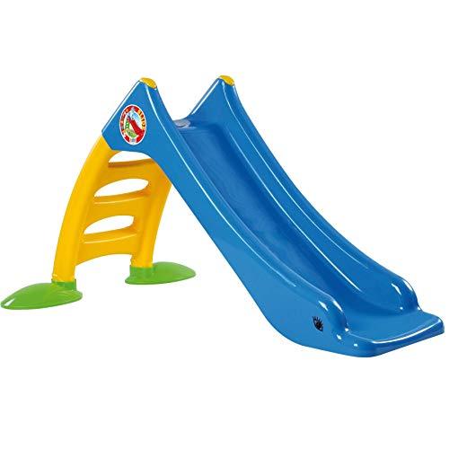 TikTakToo Stabile Kleinkinderrutsche für Kinder ab 1 Jahr Kinderrutsche Garten mit Wasseranschluss als Wasserrutsche Kinder Rutsche Rutschbahn Outdoor Gartenrutsche (blau)