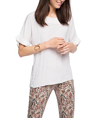 ESPRIT Collection Damen 036EO1F007-fließend weiche Qualität Bluse, Weiß (Off White 110), 34
