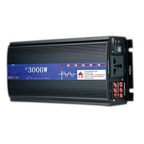 FDQNDXF Inversor de Energía de Onda Sinusoidal Pura 2200W 3000W 4000W 5000W DC 12V / 24V / 48V a 220V AC Convertidor de Coche con Enchufe Universal, para Exterior/Hogar/Camión RV