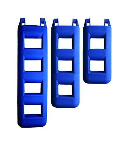 FOR WATER Forwater Parer Escalera para Barcos, 3peldaños, Color Azul
