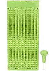 Wosune Herramienta de Escritura Braille, Material de Calidad Escritura en Braille, Office para el hogar