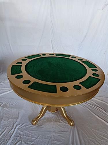 Kunibert Pokerspieltisch - Spieltisch Poker/Esstisch Alles in einem Tisch, mit drehbarer Tischplatte Holz Breite120cm