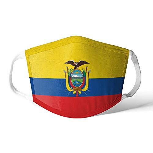 M&schutz Maske Stoffmaske Mittel Notleidende Flagge Ecuador/Ecuadorianer Wiederverwendbar Waschbar Weiches Baumwollgefühl Polyester Fabrik