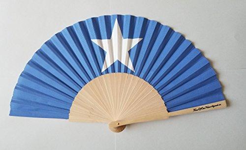 Fans von Unsere Nation Somalia Flagge Stoff Falten Hand Fan mit Bambus Handgriff