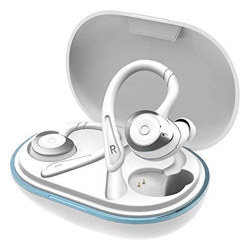 Auriculares Bluetooth Deportivos, Wireless Earphones, Auriculares Inalambricos con Bajos Profundos y 40H de Autonomía, Emparejamiento Rápido Auriculares Inalámbricos, IPX7 Impermeable &BT5.0