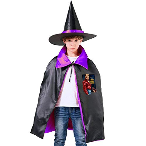 NUJSHF Unisex Kinder Kapuzenumhang James Dean in Rebel ohne Koffer Halloween Party Dekoration Rolle Cosplay Kostüme Outwear
