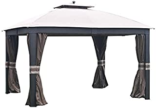 Garden Winds Replacement Canopy for Allen and Roth Wicker Gazebo - Riplock 350