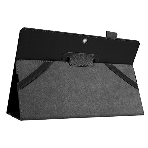 Kepuch Custer Hülle für Lenovo Miix 310,Smart PU-Leder Hüllen Schutzhülle Tasche Case Cover für Lenovo Miix 310 - Schwarz