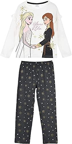 Frozen Niñas Pijama Largo (Blanco,4 años)