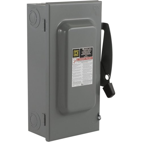 Square D by Schneider Electric Square D D223N 100 Amp 240Vac Single Throw Safety Switch 2P