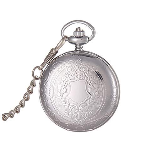 GR-Furniture Reloj de Bolsillo Reloj de Bolsillo mecánico de Plata Mano Mano Unisex Steampunk Colgante