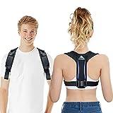Posture Corrector for Men and Women, Adjustable Upper Back Support, Effective Back Brace for Posture Under Clothes, Improve Posture, Pain Relief from Neck, Back and Shoulder