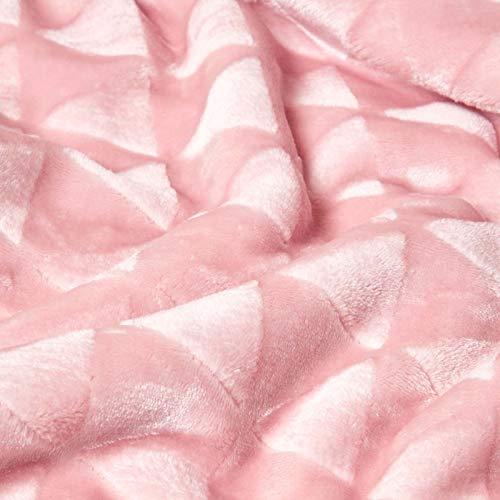 HOMESCAPES Plaid Polaire Ultra Doux Rose et Revers Sherpa, jeté de canapé ou Dessus de lit, 160 x 200 cm