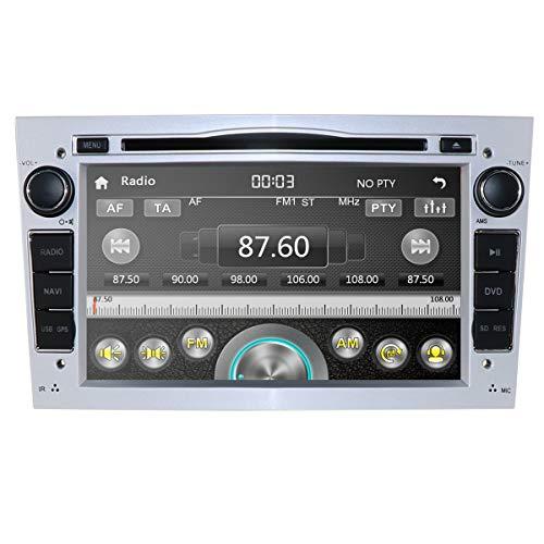 Sistema estéreo del Tablero del Reproductor de DVD del Coche con Pantalla de 7 Pulgadas, Sistema Multimedia del Coche para Opel Antara Signum Meriva Vivaro Soporte Mirror Link Bluetooth (Plateado)