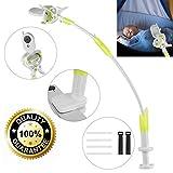 ikkle Soporte para Cámara de Bebés, Soporte para monitor Flexible de Aleación de Aluminio para Guardería Soporte Universal Compatible con la mayoría de Teléfonos & Monitores de Bebés (Verde)