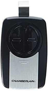 Chamberlain Group KLIK3U-SS Chamberlain 2-Button Garage Door Opener Remote With Visor Clip Silver