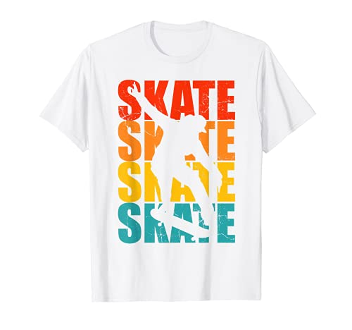 Patineta Skateboarding Regalo retro para skater Camiseta