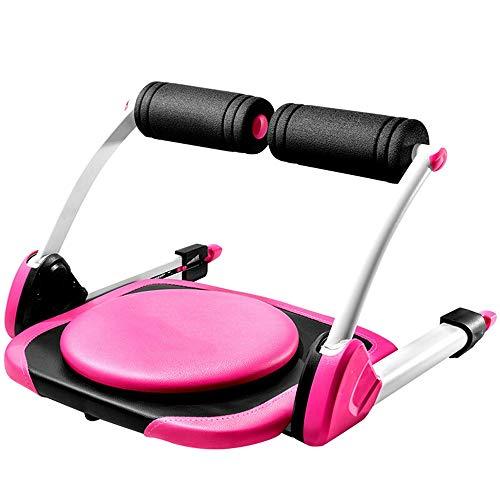Battitachil Home Gym Gewichtheben Bank, Faltbare Ab Core-Maschine Sit Up Bauch-Übung Ausrüstung for Ganzkörpertraining Toning Gym Fitness (Color : Pink, Size : 557x553x350mm)