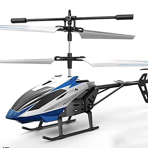 GRTVF 2.4G RC RC Aircraft con giroscopio RC Plane Principiante Indoor Control Remoto Helicóptero Adulto RC Helicopter Niños Juguete Regalo (Color : Azul)
