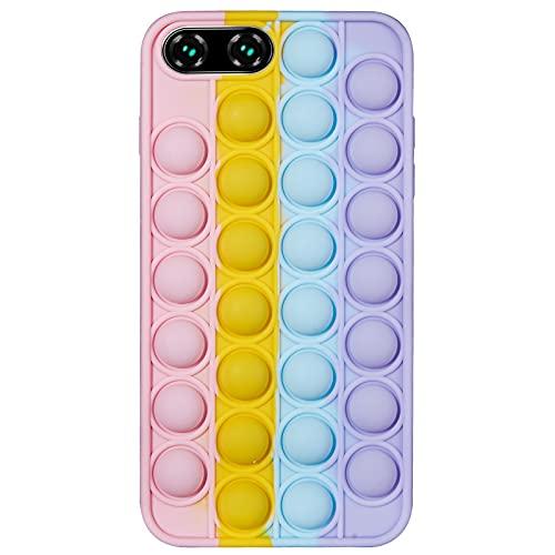 Push Bubbles Phone Case for iPhone 6 7 8 Plus X XS XR Max 11 11 PRO 12 12 Pro Max Case for Women | Rainbow Push Pop It's Fidget Toy Bubble Wrap Phone Cases for iPhone 11 12 Pro Max Case